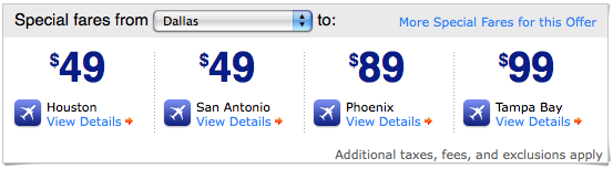 Southwest Airlines Summer Sale Offer