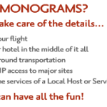 MonogramsTravel arranges your whole trip