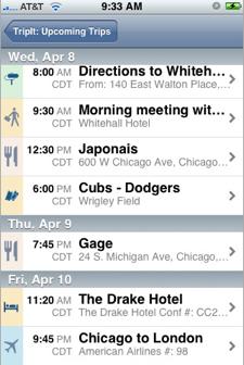 TripIt iPhone App