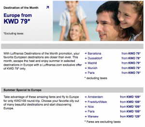 Lufthansa Special Summer Offers