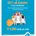 111,000 Seats for 11 KD from Jazeera Airways