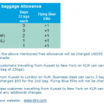 KLM New Baggage Allowance