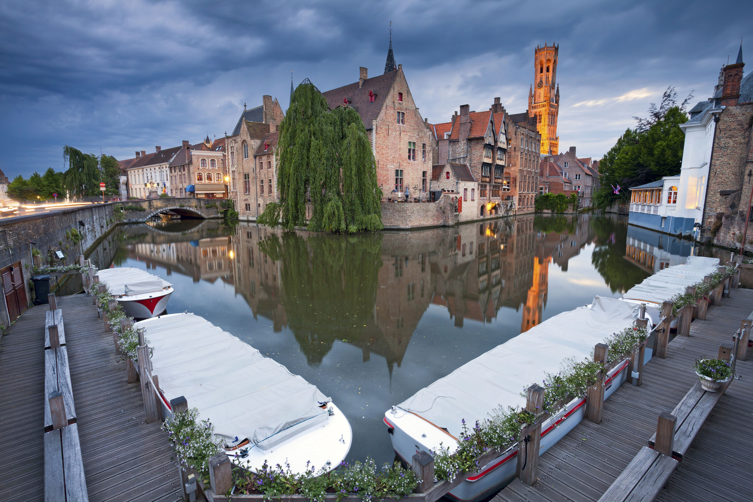 canal boat tour Burges Belgium