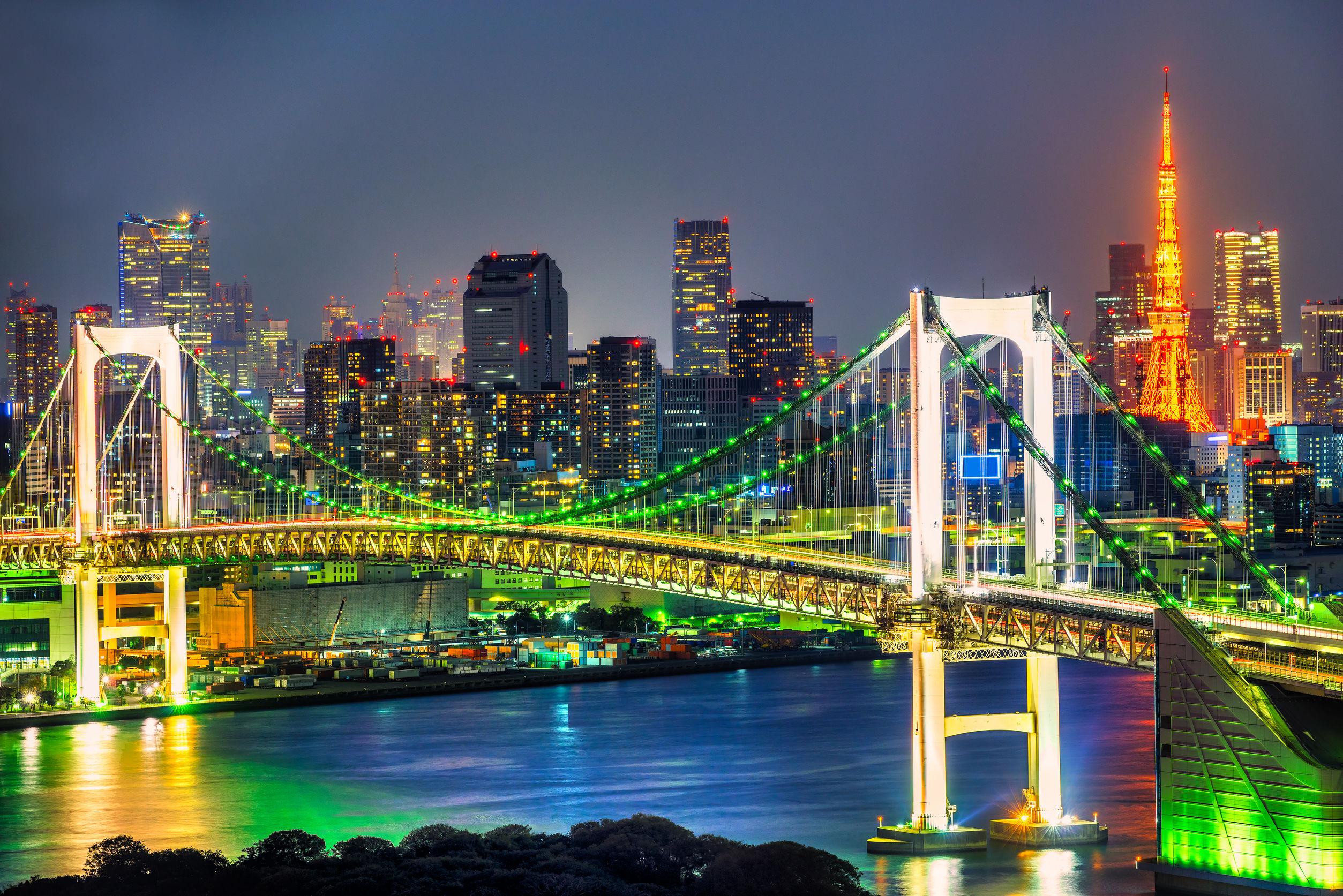 The Rainbow Bridge Tokyo Japan